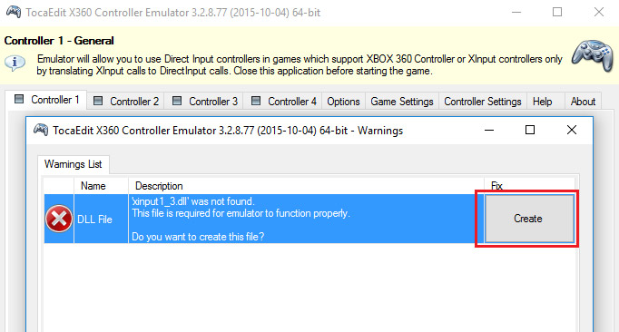 How to use x360ce emulator with Demolition Engineer on PC