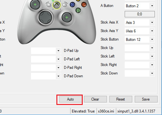 How to use x360ce emulator with IDLE Glory on PC