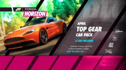 April Top Gear Car Pack